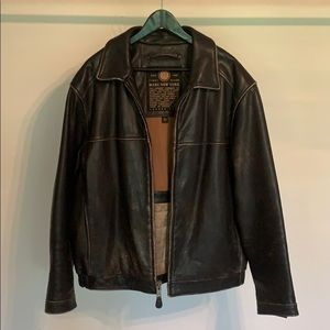 Andrew Marc New York Leather bombers jacket size L